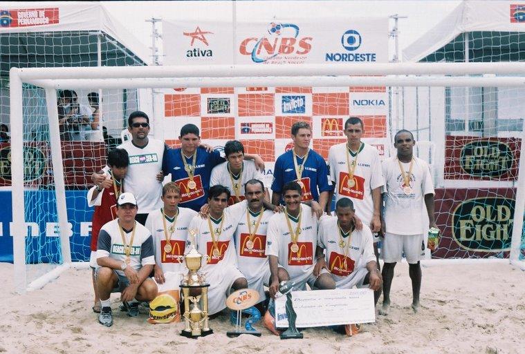 Seleção do Rio Grande do Norte - bi campeã do nordeste de beach soccer 2001/2003