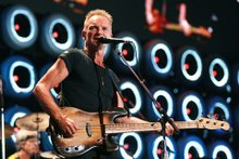 Sting of the Police Performing at  Live Earth