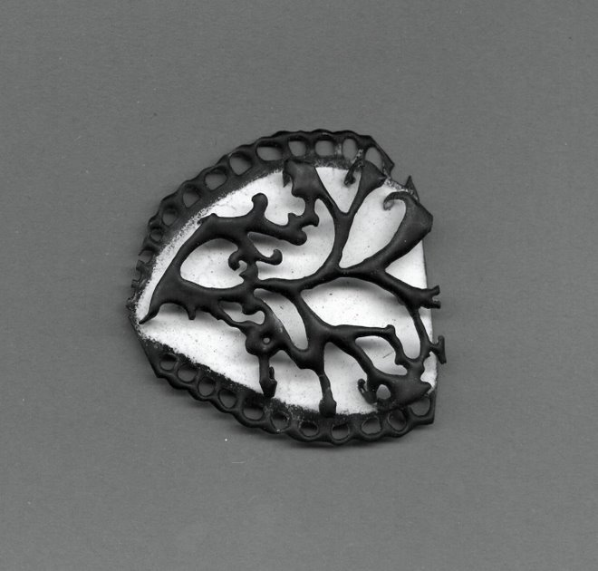 Fragment 2,  copper, enamel