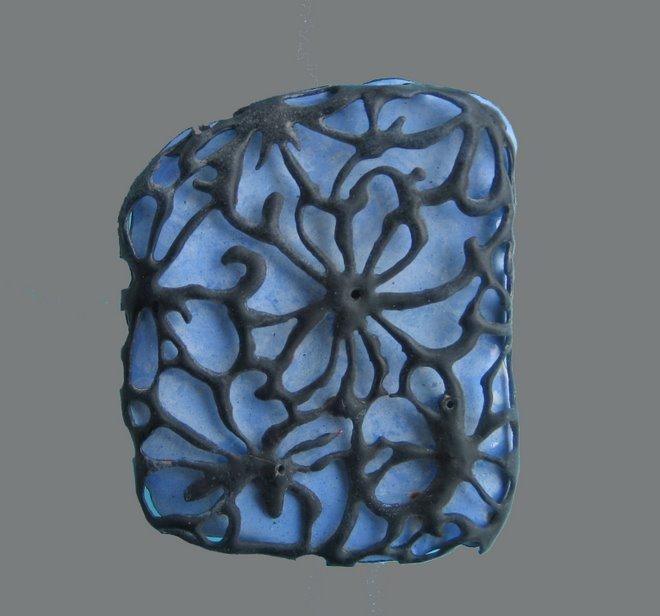 Blue view 3, copper, enamel