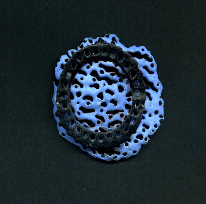 Blue View 1, brooch 2007