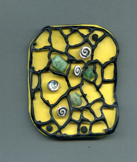 Desert, enamel, copper, esmeralda, vulcanic stones