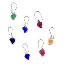 Aretes corazón colores