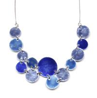 Collar circulos esmaltados en azules
