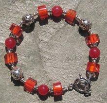 Red and Orange Cane Bracelet