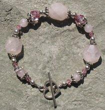 Rose Quartz and Crystal Bracelet