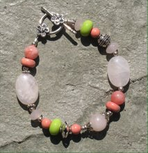 Pink and Green Multi-stone Bracelet