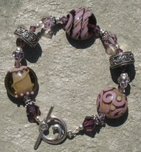 Purple and Taupe Lampwork