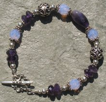 Amethyst, Violet Opal Crystal and Bali Silver