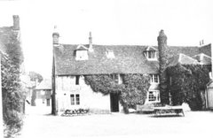 White Hart, view of rear from inner courtyard, c 1922