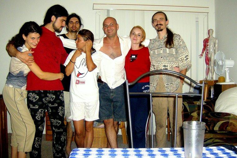 Alături de prietenii români din Rehoboth Beach.