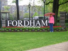Fordham University in the Spring.
