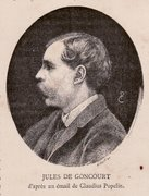 Jules De Goncourt d'aprés un émail de Claudius Popelin