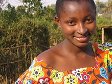 Anna, an HIV+ Rwandan teenager