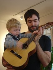 A young guitarist is born!!!