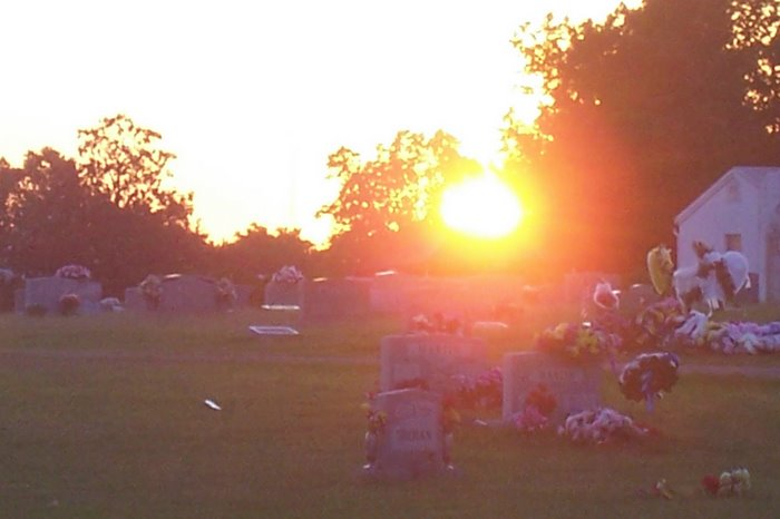 Sunset on Cemetery Rd