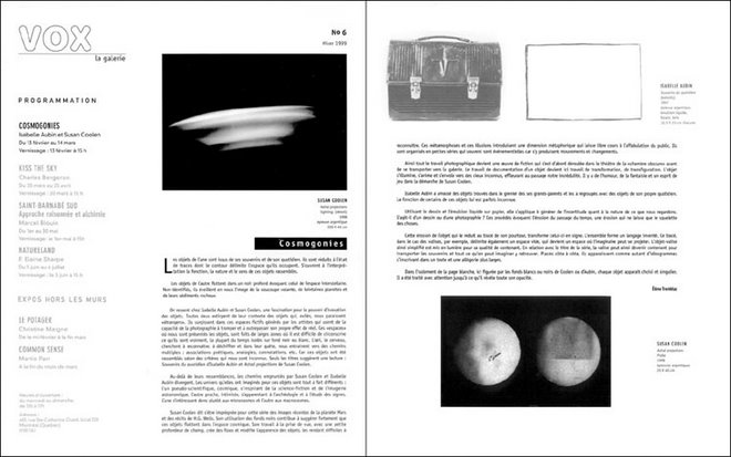 GALERIE VOX / MONTRÉAL / JANUARY 1999