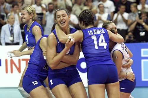 The Italian women's volleyball team's triumph