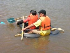 Raft Building at Rivertrail Eco-ca,p