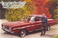 """""""Un cariño verdadero"""". Alonso Grisales Álvarez con su Automovil Dodge Coronet 1967 Rojo Pasión"""