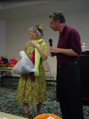 My husband, Chuck, and I presenting a drama sketch during a marriage seminar in Charleston, SC