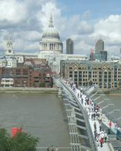 Saint Paul's Cathedral and the Milennium Foot Bridge
