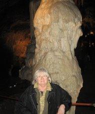A postojnai cseppkőbarlangban
