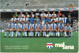 Plantilla RCD Español 1988