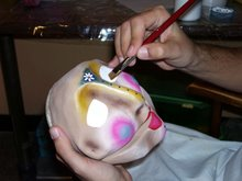 Pintando el rostro