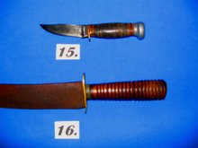 20th century Marbles hunting knife/ 19th century Southern bowie knife