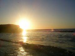 Puesta de sol en playa solitaria, tomada por mi verano 2007
