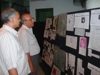 جزء من المعرض بمناسبة التأبيين وذكرى الاربعيين لرحيل  نجلاء رأفت