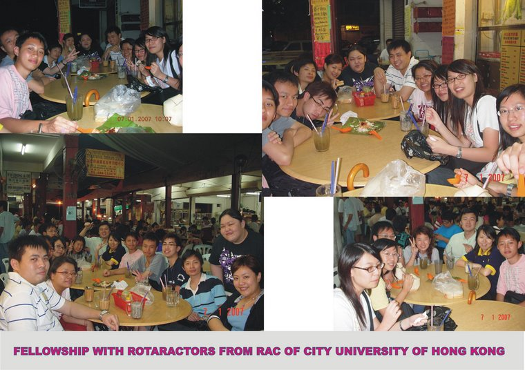Fellowship with Hong Kong's Rotaractors (7th January 2007)