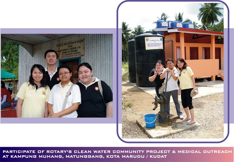 Participate of Rotary KK's Project at Kg. Muhang, Matunggang, Kota Marudu/Kudat (11th March 2007)