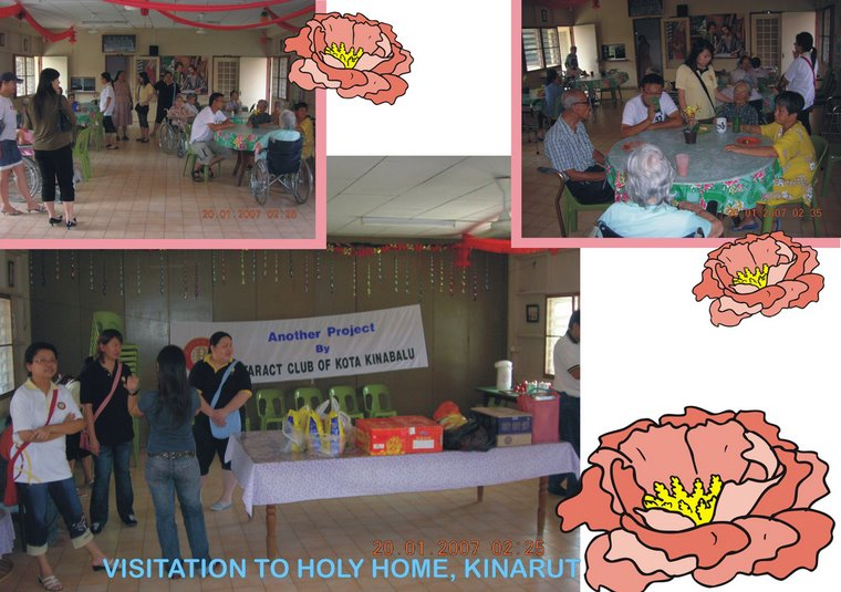 Visitation to Holy Home, Kinarut (20th January 2007)