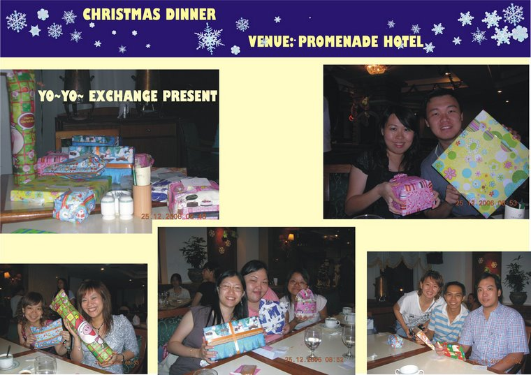 Christmas Dinner at Promenade Hotel (25th December 2006)