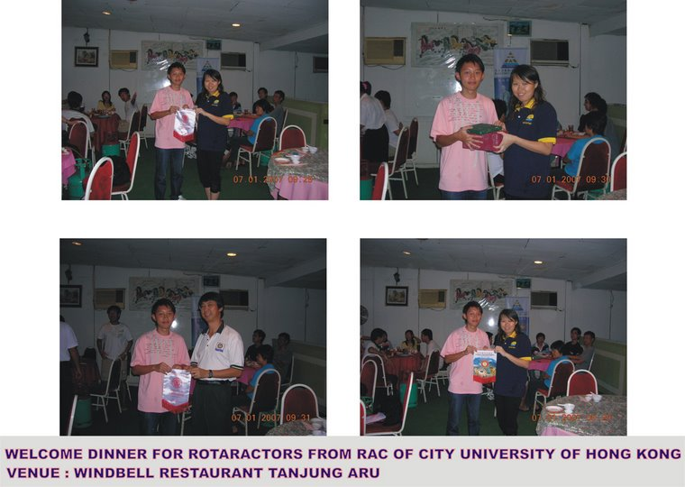 Welcome Dinner for Hong Kong's Rotaractors (7th January 2007)