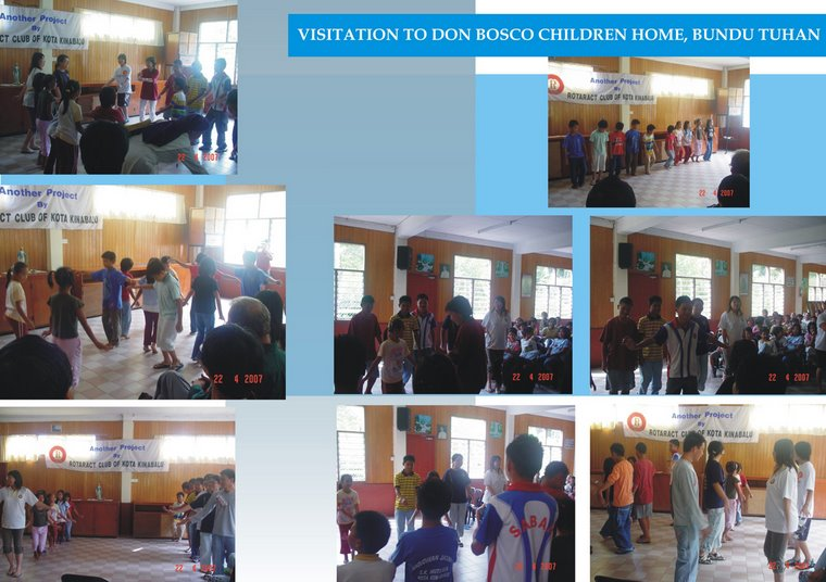 Visitation to Don Bosco Children Home, Bundu Tuhan (22nd April 2007)