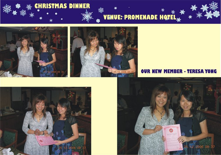 Induction of Teresa Yong (25th December 2006)
