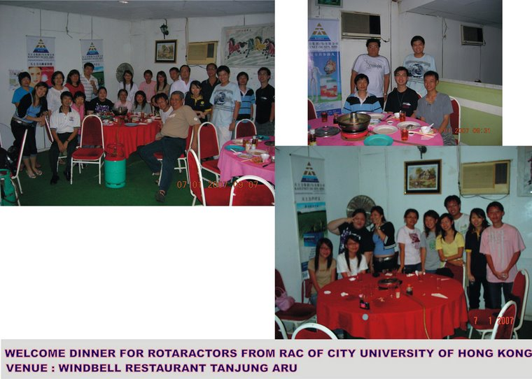 Welcome Dinner for Hong Kong's Rotaractor (7th January 2007)