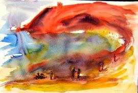playa de  barranca. peru