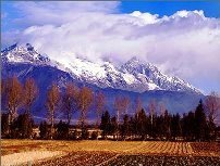Yulong mountain, Lijiang, in Yunnan