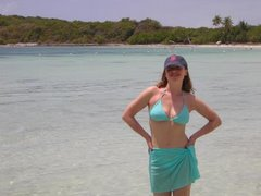 On the beach in Vieques, Puerto Rico...