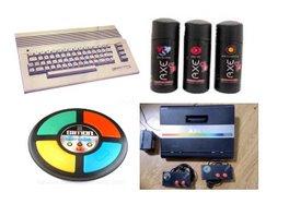 """Algunos articulos de los años 80""""s, la Commodore, el Atary, el Simon y el desodorante Axe"""