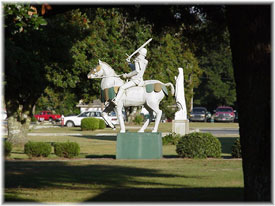 The Crusader in front of PCHS Today