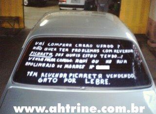 carro Flagra!!! Consumidor indignado
