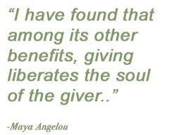 A Quote about Giving
