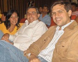 Con Alberto Crisafi y Flavia Martineau