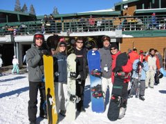 Snowboarding at Tahoe