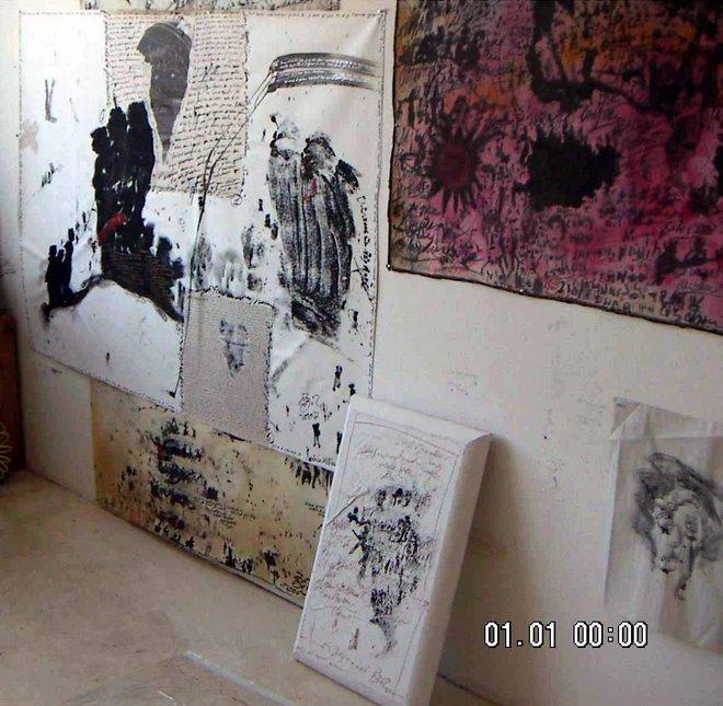 un coin de l'atelier in NYC